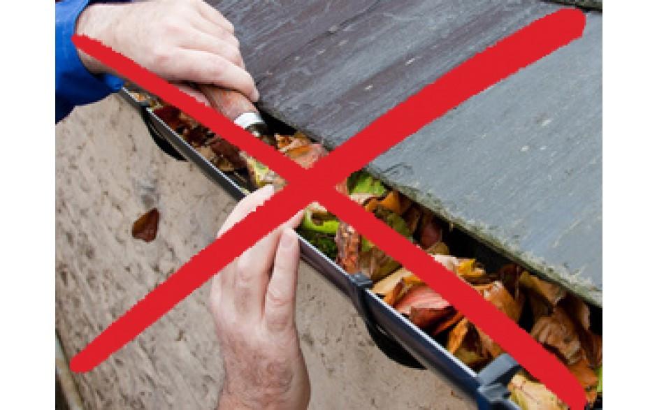 grille pare feuilles protection pour goutti res le renard24. Black Bedroom Furniture Sets. Home Design Ideas