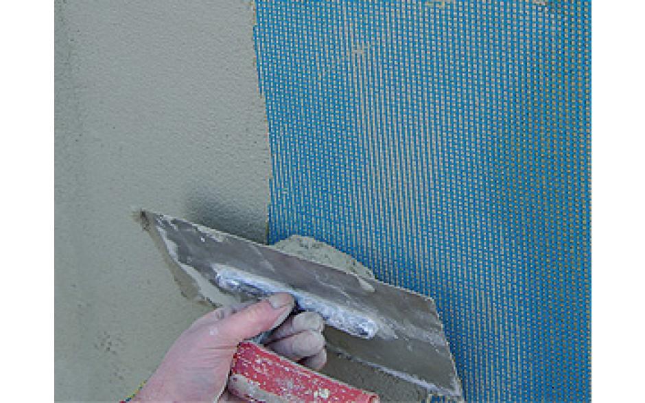 Grillage fibre de verre pour ravalement 140 g m maille - Enduit exterieur au rouleau ...