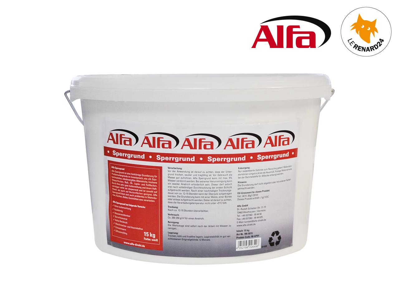 primaire d'accrochage à grains fins «sperrgrund» - alfa 785