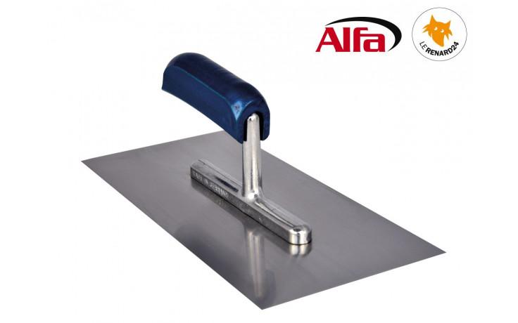 450 ALFA - Platoir lisse inox avec manche en bois