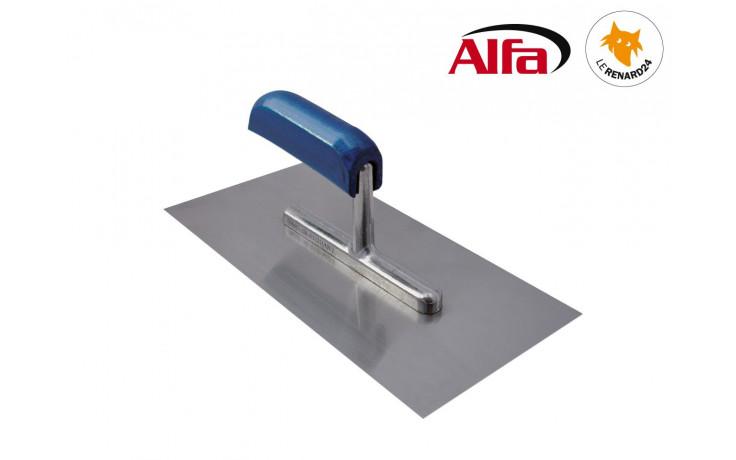 453 ALFA - Platoir à enduit lame acier avec manche en bois