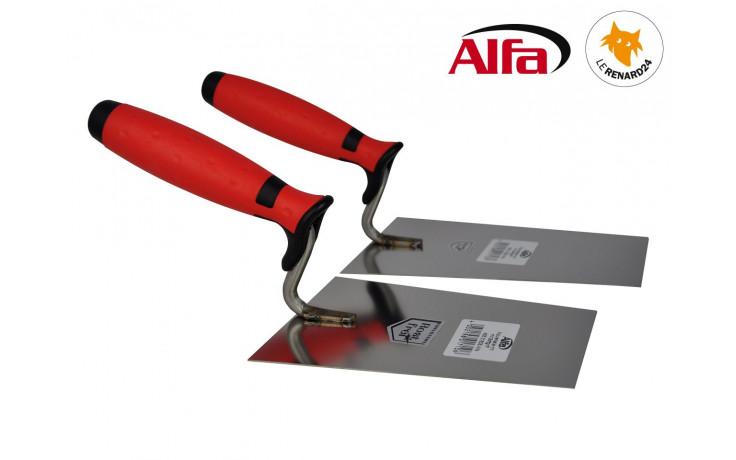 455 ALFA - Truelle italienne carrée inox avec manche bi-matière