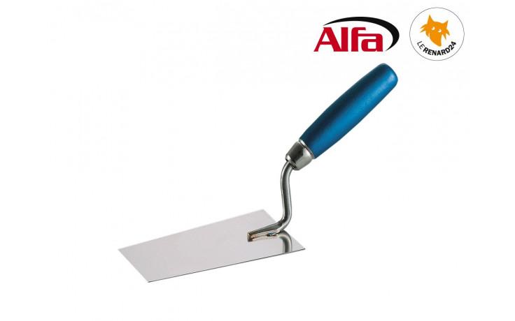 456 ALFA - Truelle de plâtrier carrée inox avec manche en bois