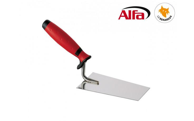 457 ALFA - Truelle de plâtrier «BERNER» carrée inox avec manche en bi-matière