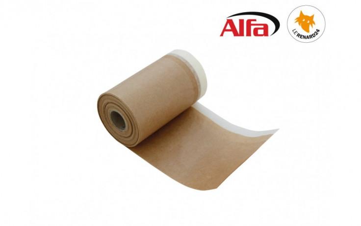 Ruban adhésif de masquage en crêpe imprégné avec papier de protection dépliant de 40 g/m²