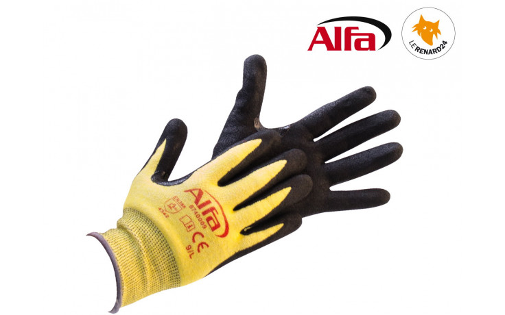 Gants de protection contre les coupures avec renforcement spécial aux endroits fortement sollicités