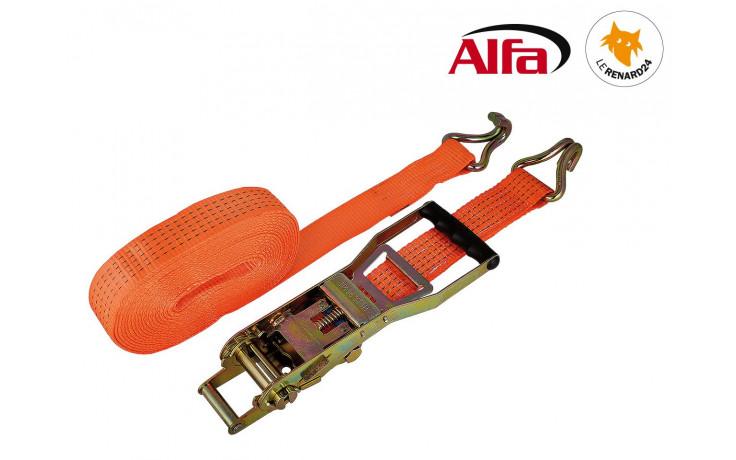 979 ALFA - Sangle d'arrimage deux parties, boucle à long levier et crochet pointu