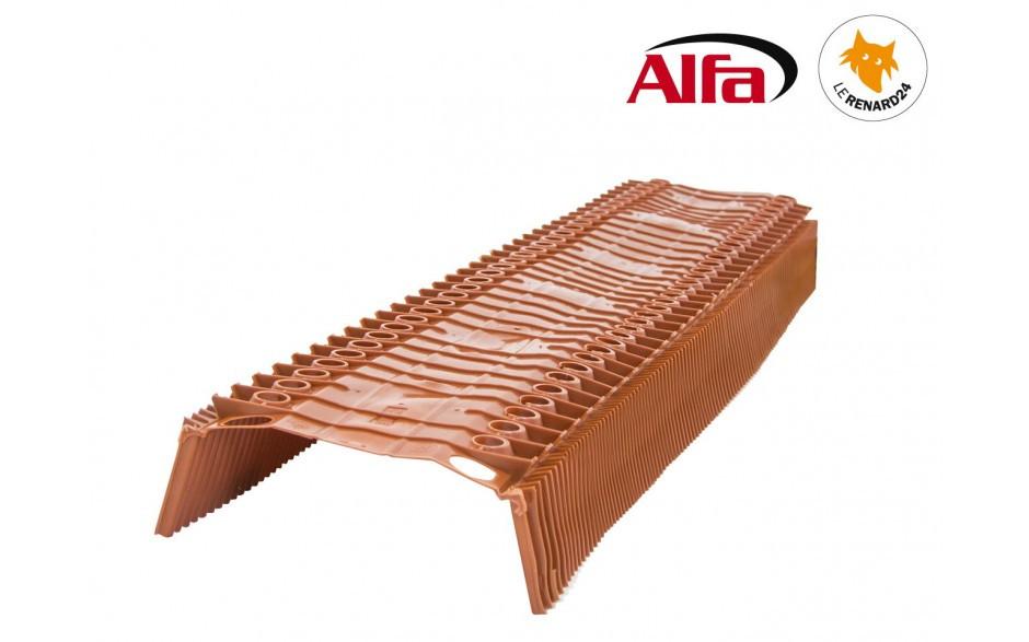 Closoir rigide ventilé en PVC pour une ventilation optimale des arêtes