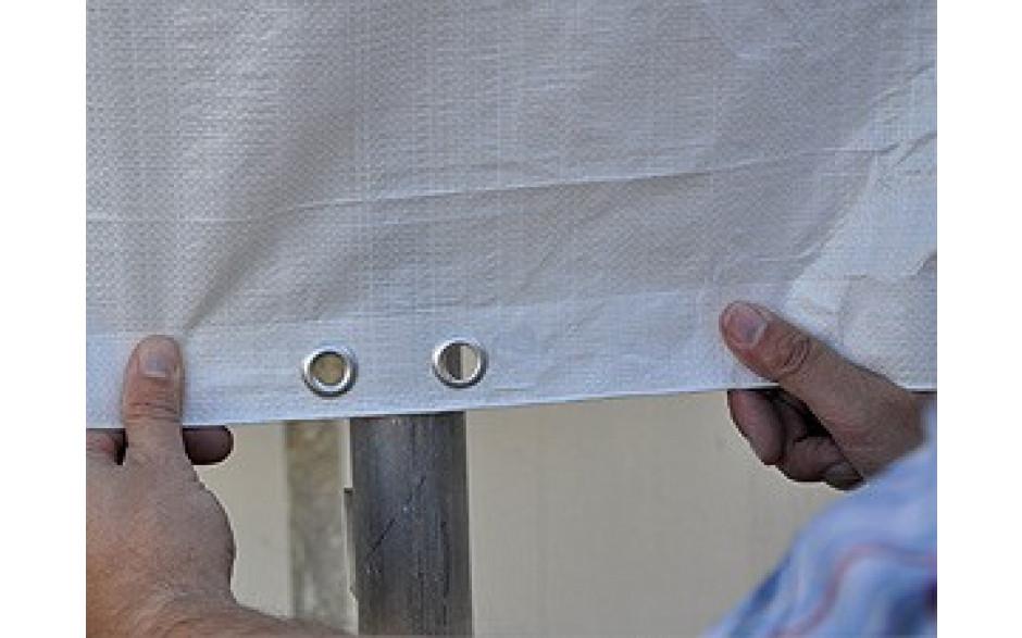 Double œillets en laiton tout les 50 cm