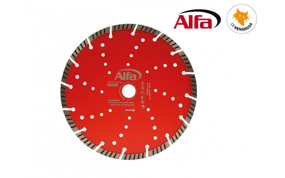 693 ALFA - Disque diamant à tronçonner «TURBO»