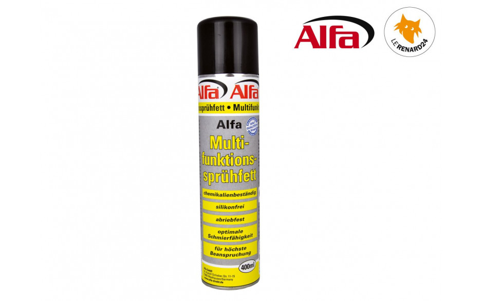 751 ALFA - Lubrifiant au PTFE - Graisse spray 400ml - Blanc