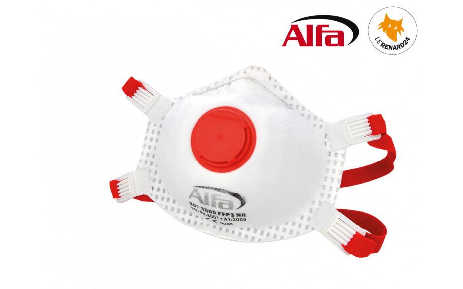 Masque poussières fines FFP3 (avec valve).