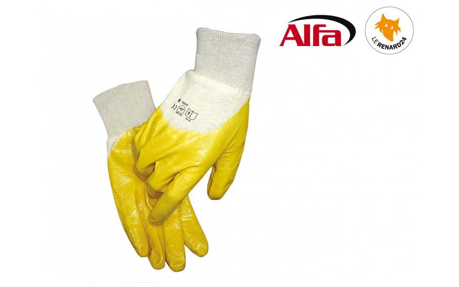 ALFA - Gants en coton (revêtus de Nitrile)