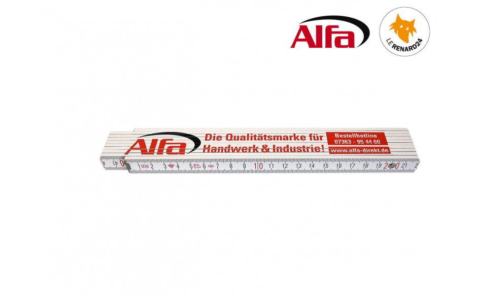 950 ALFA - Double mètre pliant bois «Premium»