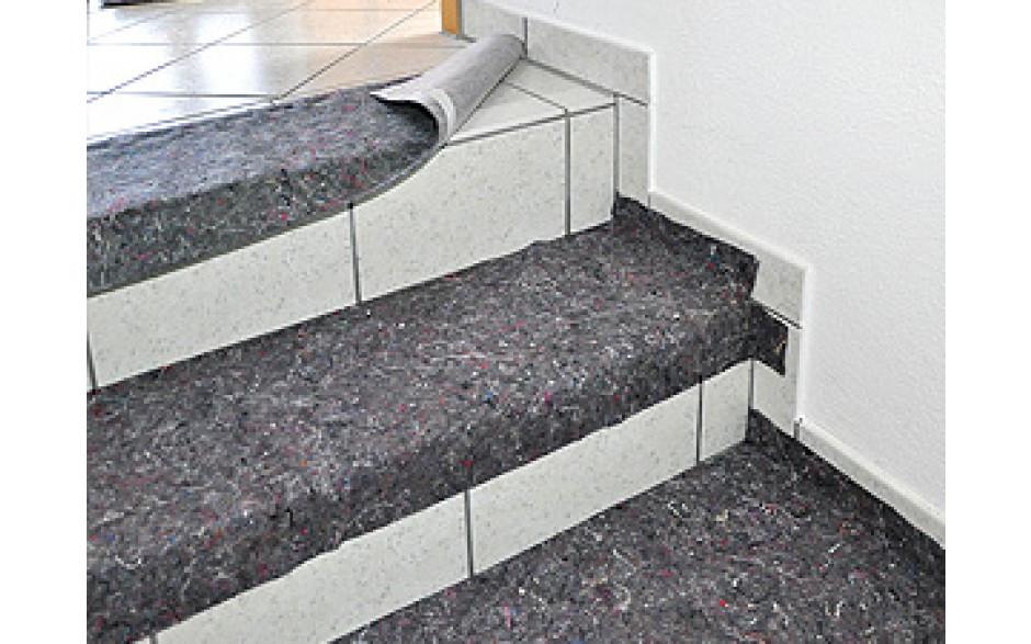 Bâche feutre absorbante pour escaliers - utilisation