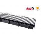 130 ALFA - Latte de ventilation pour tuiles avec peigne - noir