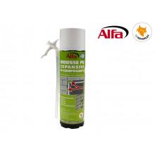 ALFA - Mousse PU expansive bi-composants 400ml manuelle
